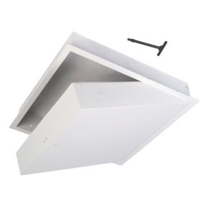 View White PVCu Drop Down Loft Access Door (L)562mm (W)562mm details