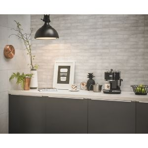 Image of Lofthouse Whitewash Matt Brick Ceramic Wall & floor tile Sample (L)598mm (W)298mm