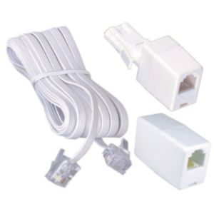 View Philex White Plastic Telephone Extension Kit 10m details