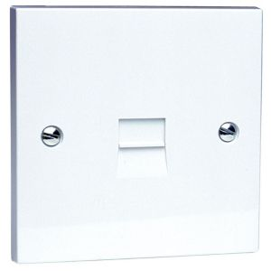 View Philex Gang 1 G Raised Telephone Socket White details