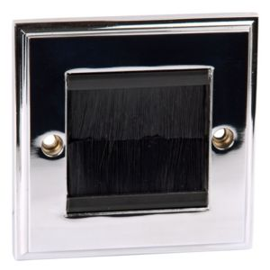 View Philex 1-Gang Silver Polished Chrome Aluminium Face Plate details