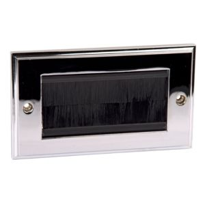 View Philex 2-Gang Silver Polished Chrome Aluminium Face Plate details
