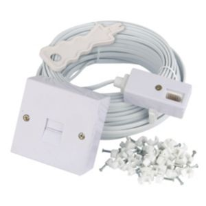 Tristar White Telephone Extension Kit 20m
