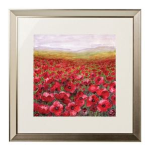 View Poppy Field Multicolour Framed Print (W)780mm x (H)780mm details