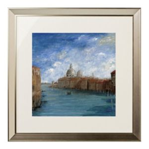 View Venice Scene Blue, Brown & White Wall Art (W)78cm x (H)78cm details