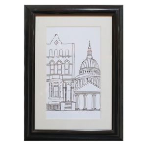 View Architectural London Black & White Framed Print (W)500mm x (H)700mm details