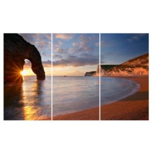 View Durdle Door Multicolour Canvas (W)990mm x (H)600mm details