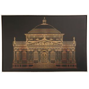 Image of Architectural Gold Framed Print (W)900mm (H)600mm