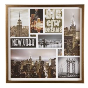 Image of Big City Dreams Collage Framed Print (W)600mm (H)600mm