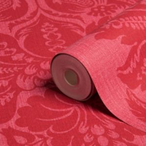 View Grand Damask Cerise Vinyl Wallpaper details