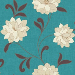 View Arthouse Vintage Valencia Metallic Teal Wallpaper details