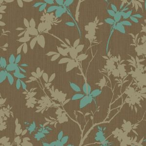 View Arthouse Eco Divine Motif Shimmer Chocolate & Teal Wallpaper details