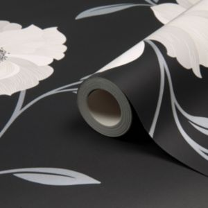 View Charleston Floral Black & White Wallpaper details