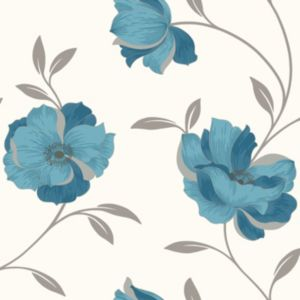 View Charleston Floral Blue Wallpaper details