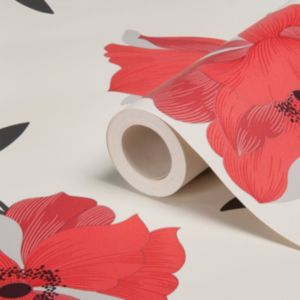 View Charleston Floral Red Wallpaper details