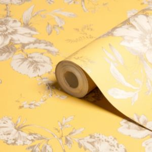 View Fleurette Floral Gold Effect Wallpaper details