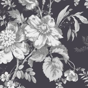 View Arthouse Vintage Fleurette Grey & White Wallpaper details