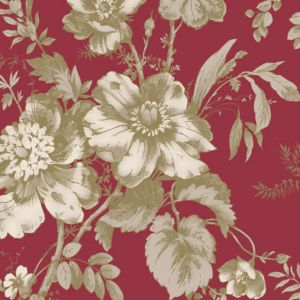 View Fleurette Floral Brown & Red Wallpaper details