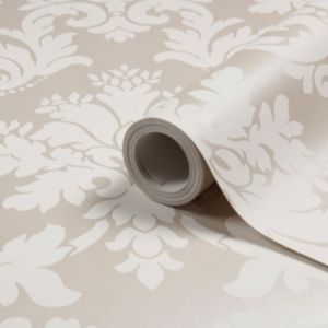 View Byron Damask Beige Wallpaper details