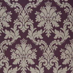 View Byron Grey & Plum Wallpaper details