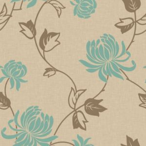 View Arthouse Vintage Riva Turquoise Wallpaper details