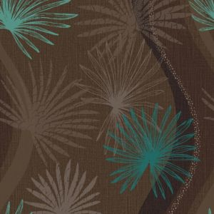 View Arthouse Vintage Novara Flat Dark Brown & Teal Wallpaper details