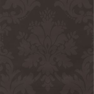 View Arthouse Vintage Damask Metallic Effect Chocolate Wallpaper details