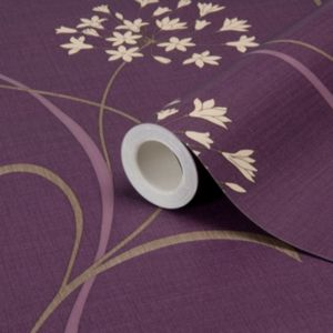 View Mia Floral Mulberry Wallpaper details
