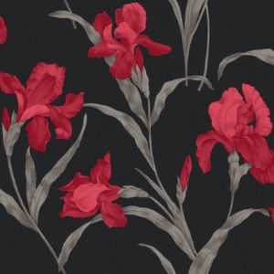 View Fleur Red Floral Wallpaper details