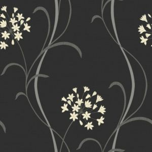 View Arthouse Opera Mia Soft Sheen Highlights Black Wallpaper details