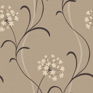 View Arthouse Vintage Mia Soft Sheen Highlights Beige, Brown & Cream Wallpaper details