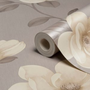 View Flower Stone Floral Magnolia Wallpaper details
