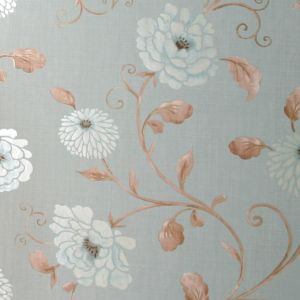 View Antoinette Floral Blue Metallic Effect Wallpaper details