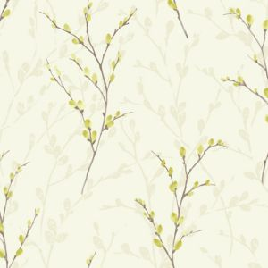 View Willow Blossom Green Wallpaper details