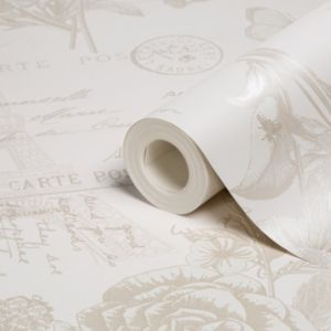 View Florien Floral Cream Wallpaper details