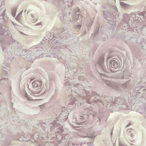 Reverie mauve purple wallpaper departments diy at b q for B q bedroom wallpaper