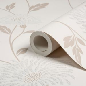 View Dazzle Floral Cream Wallpaper details