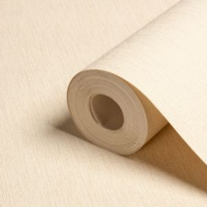 View Icon Block Plain Cream Blown Vinyl Wallpaper details