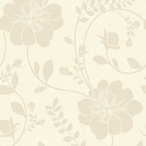 View Twilight Floral Cream Metallic Effect Wallpaper details