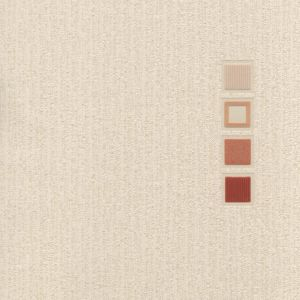 View Quattro Motif Block Motif Cream & Red Blown Vinyl Wallpaper details