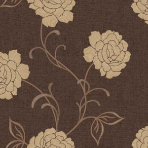 View Lauren Motif Floral Chocolate & Cream Wallpaper details