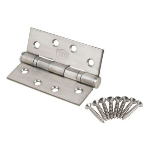 Image of Satin Stainless steel Grade 13 Ball bearing square hinge Pack of 2