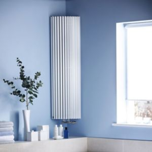 View Jaga Iguana Circo Vertical Radiator White, (H)1800 mm (W)270 mm details