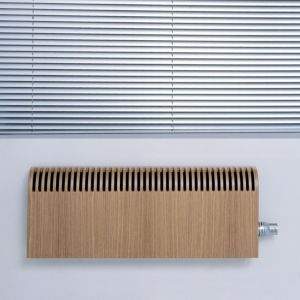 View Jaga Knockonwood Wooden Cased Radiator Oak Veneer, (H)550 mm (W)1400mm details