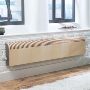Photo of Jaga knockonwood horizontal wooden cased radiator maple veneer -h-300 mm -w-1400 mm