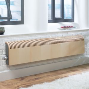 View Jaga Knockonwood Wooden Cased Radiator Maple Veneer, (H)550 (W)1000mm details