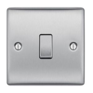 Nexus 10AX 2-Way Single Stainless Steel Single Light Switch