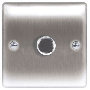 View Nexus 1-Gang 2-Way Steel Effect Dimmer Switch details