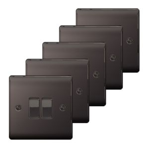 Nexus 10A 2-Way Black Nickel Effect Light Switch  Pack of 5