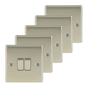 Nexus 10A 2-Way Pearl Nickel Switch  Pack of 5
